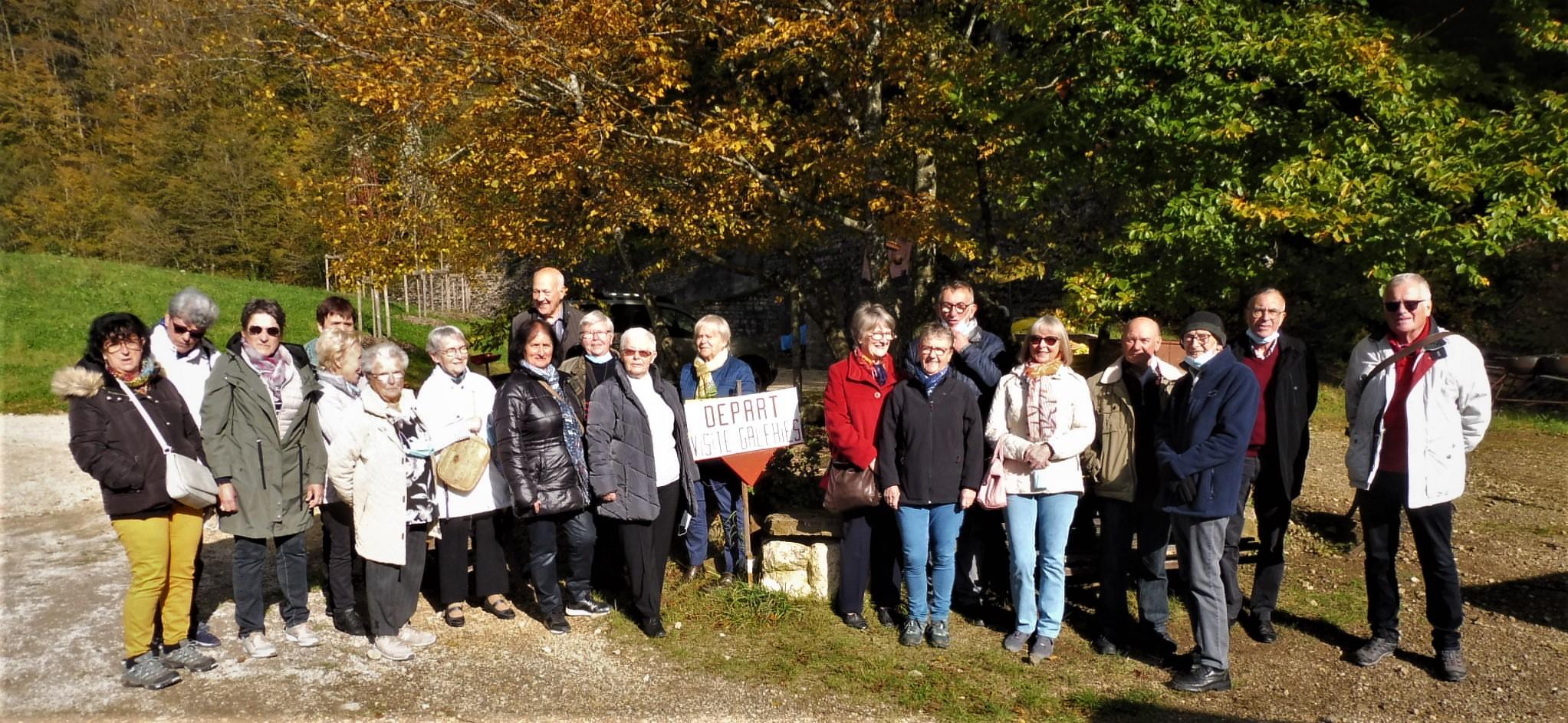 Photo du groupe sur le site du Val de fer